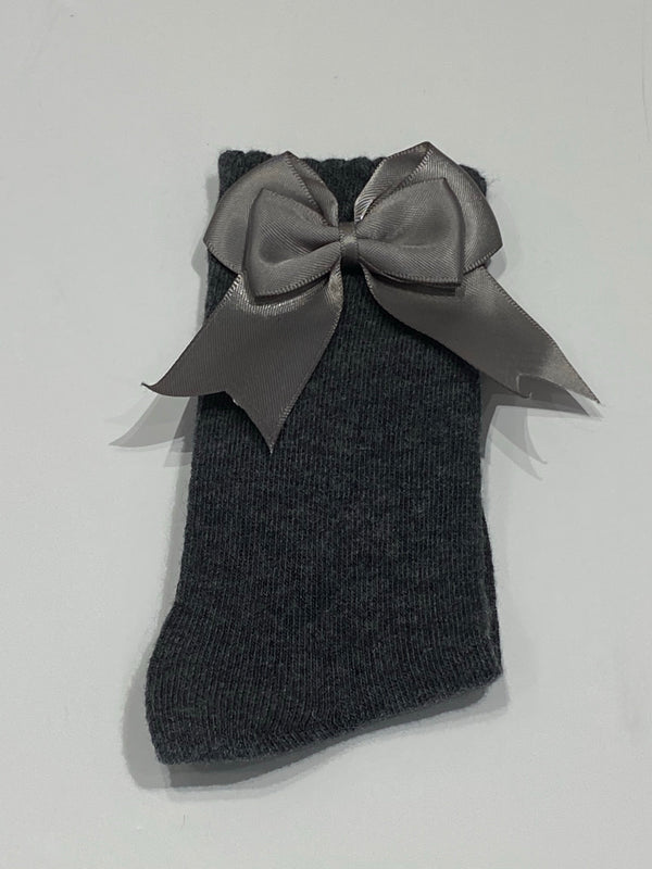 Dark grey bow sock