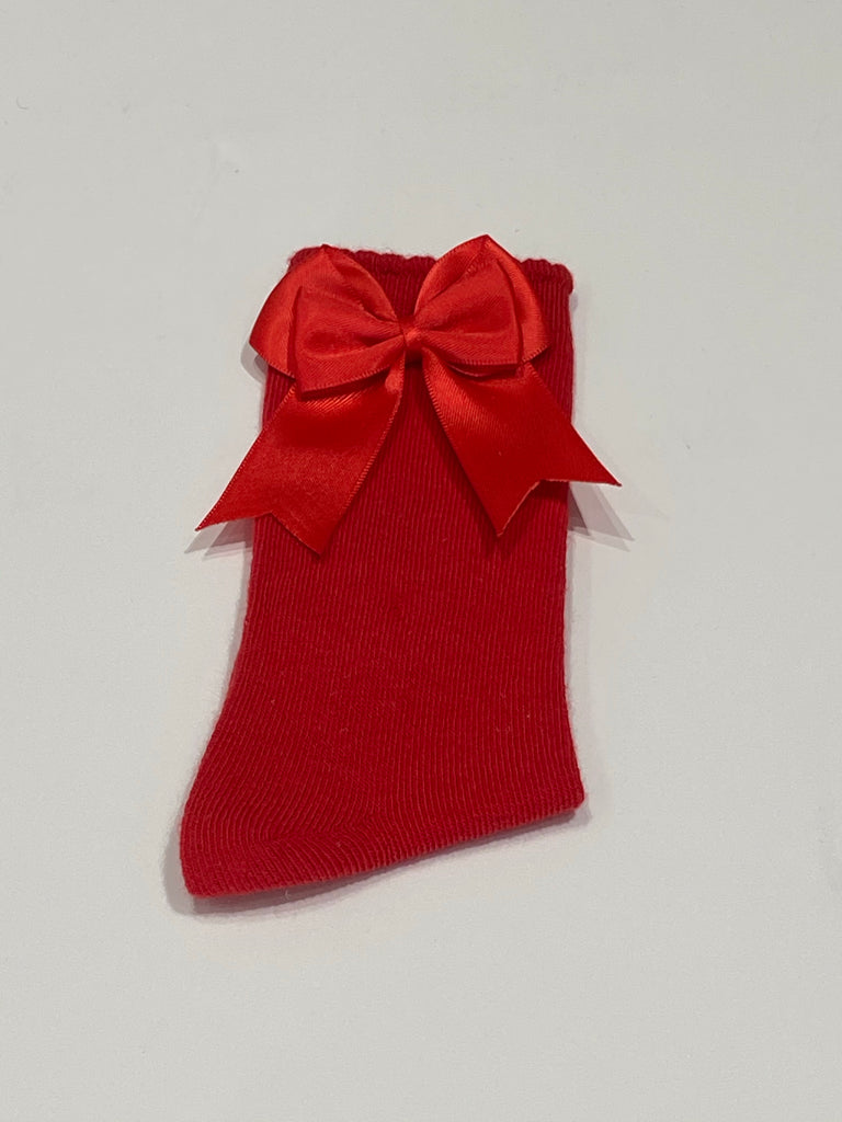 Red bow sock