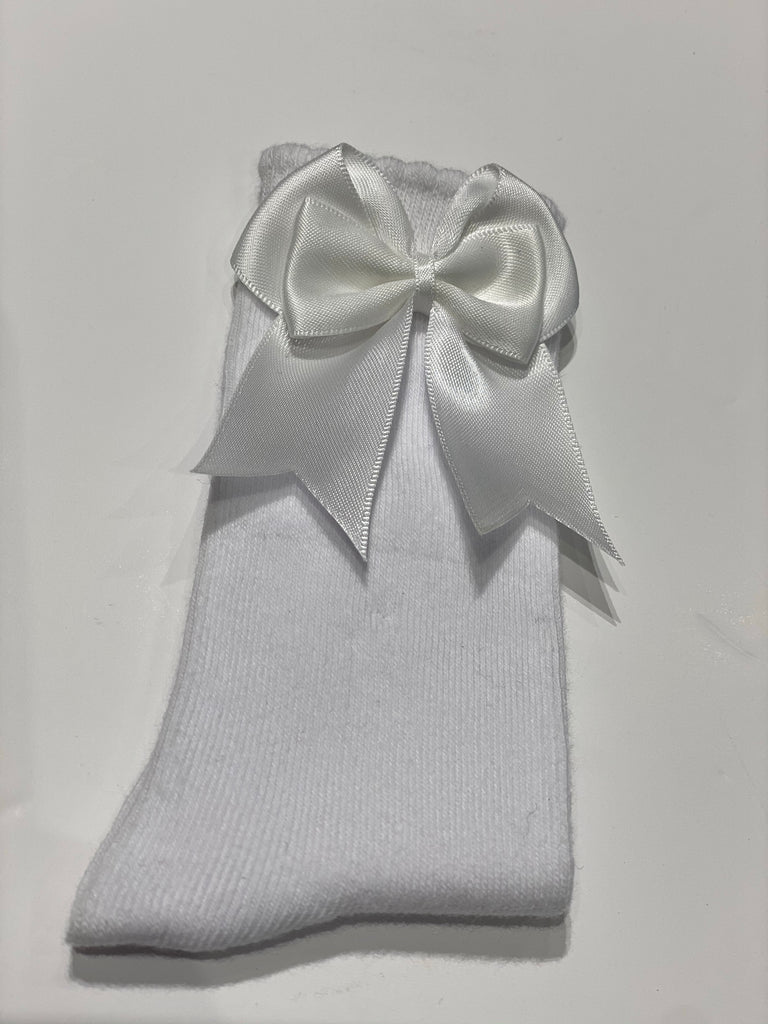 White bow sock