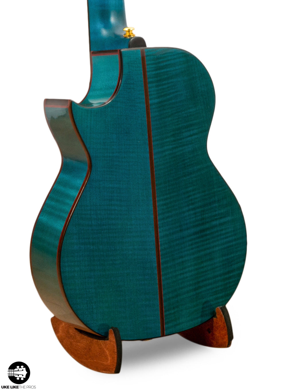 "Enya EUT-Flower Solid Blue Maple Tenor Ukulele ""Shadow"""