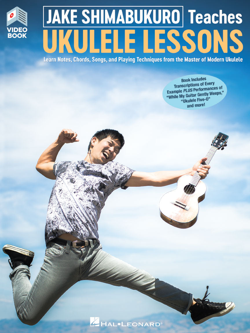 JAKE SHIMABUKURO TEACHES UKULELE LESSONS Book with Full-Length Online Videos