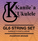 Kanile'a GL6 Guitarlele String Set (A to A Tuning) Baritone Scale Length
