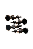 Gotoh Black UPTL Plantary Ukulele Tuning Machines 1:4 Gear Ratio FULL SET of 4