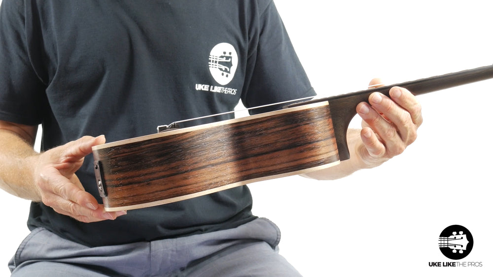 "Kala Striped Ebony Tenor w/ EQ KA-EBY-TE ""Bushmaster"""