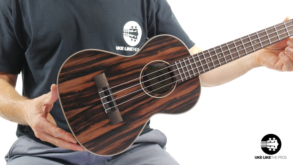"Kala KA-EBY-TE Striped Ebony Tenor w/ EQ ""Bushmaster"""