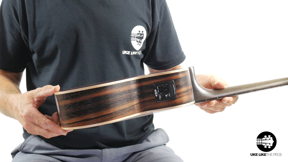 "Kala Striped Ebony Tenor w/ EQ KA-EBY-TE ""Volcom"""