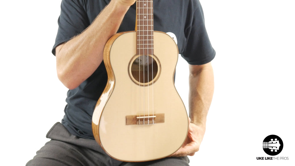 "Kala KA-FMBG Spruce Top Flame Maple Baritone Ukulele ""Phantom"" 15% OFF"