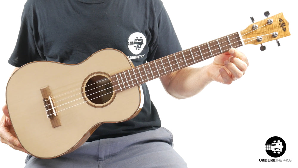 "Kala KA-FMBG Spruce Top Flame Maple Baritone Ukulele ""Pitchfork"" 15% OFF"