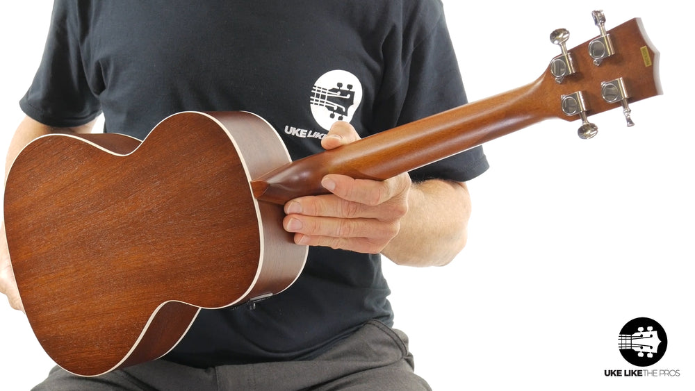 "Satin Mahogany Tenor Ukulele with EQ KA-TE ""Ripple"""