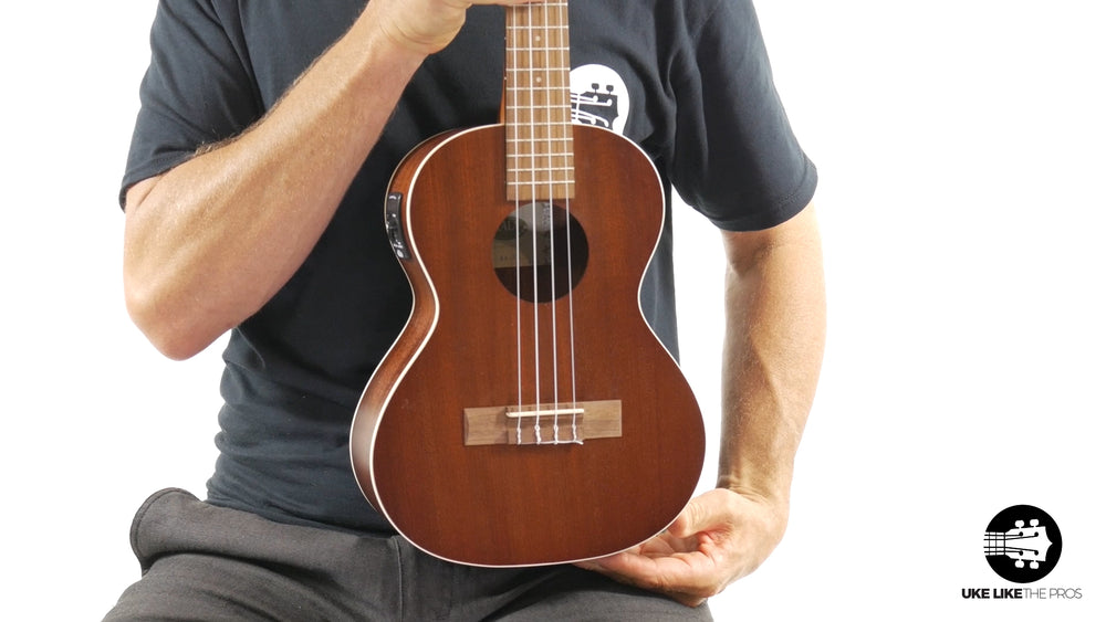 "Kala KA-TE Satin Mahogany Tenor Ukulele with EQ & Pickup ""Slow Hand"""