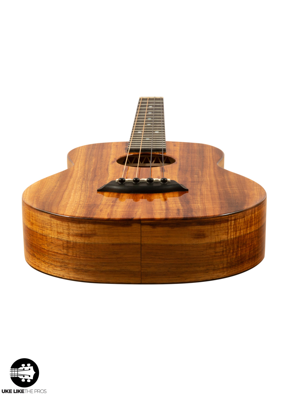 "Kanile'a K-1 B Premium Baritone Ukulele Solid Koa ""Cherry Bomb"" Made In Hawaii"