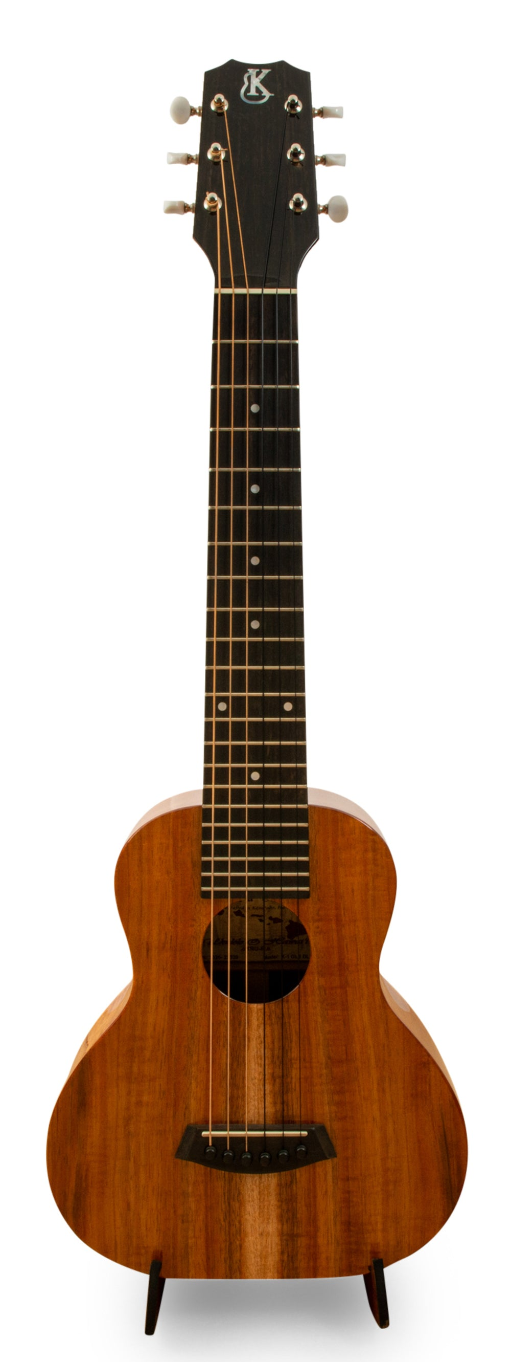 "Kanile'a GL6 Solid Deluxe Koa 6 String Guitarlele ""Slinky"" Made in Hawaii"