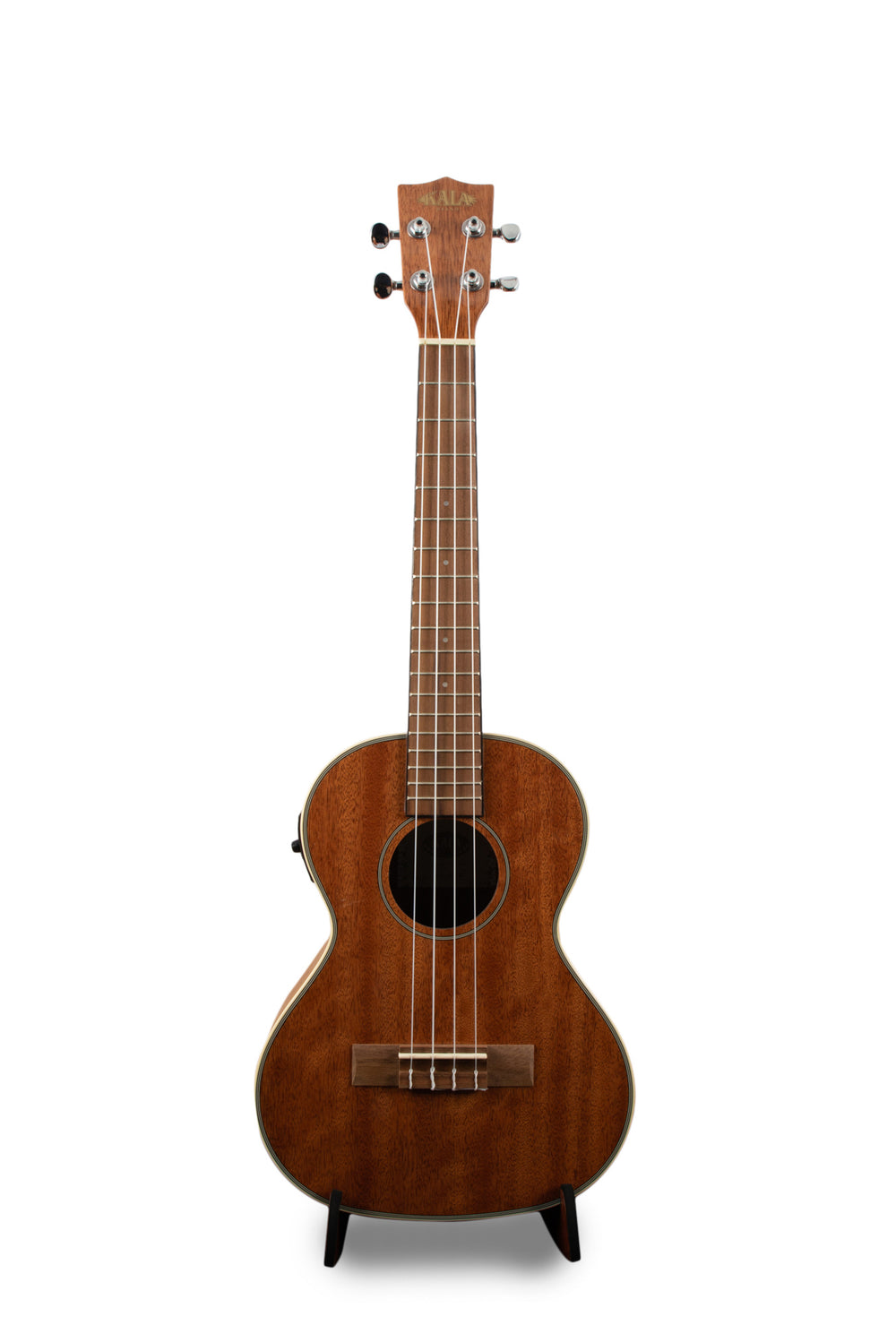 "Kala KA-TGE Gloss Mahogany Tenor Ukulele with Pickup, EQ, & Tuner ""Magic"""