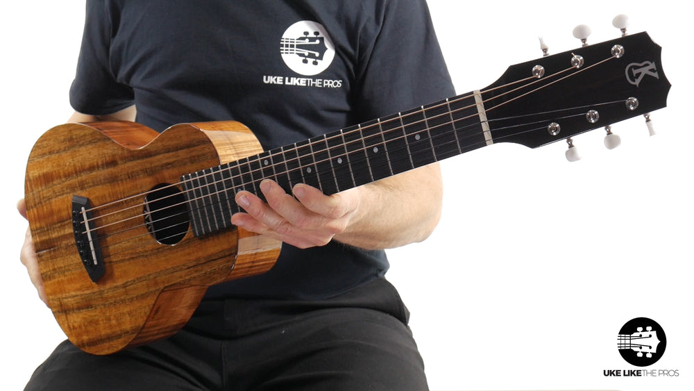 "Kanile'a GL6-Tru-R Deluxe G Solid Koa 6 String Guitarlele ""Greased Lightning"""