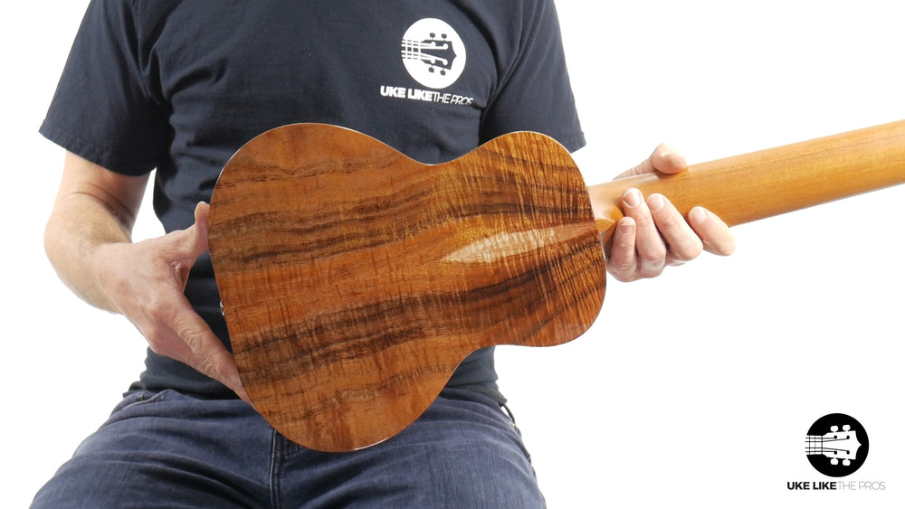 "Kanile'a GL6 Solid Premium Koa 6 String Guitarlele ""Shaka"" with Pickup"