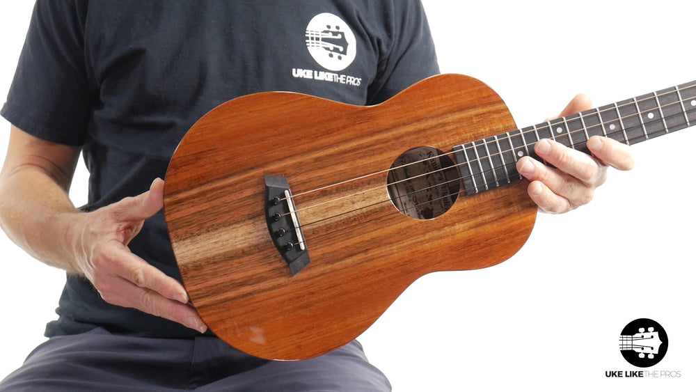"Kanile'a K-1 Baritone Deluxe Ukulele Solid Koa ""Fire and Ice"""