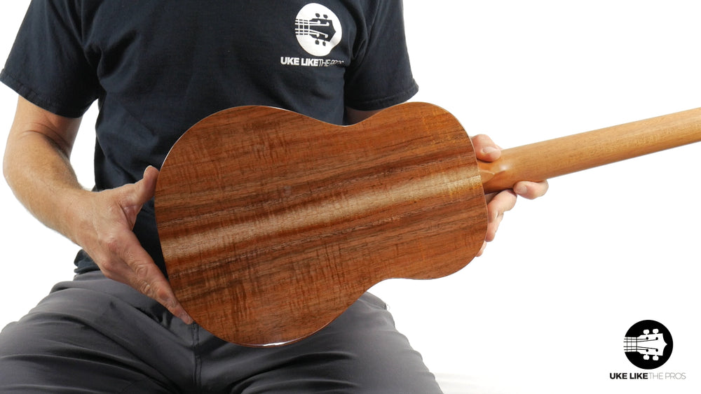 "Kanilea K-1 B Baritone Premium Ukulele Solid Koa ""Smokestack"" Made In Hawaii"