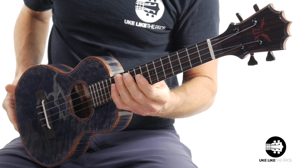 "KoAloha Custom Black Label Slimline Tenor Ukulele with LR Baggs 5.0 Pickup ""Scorched Embers"""