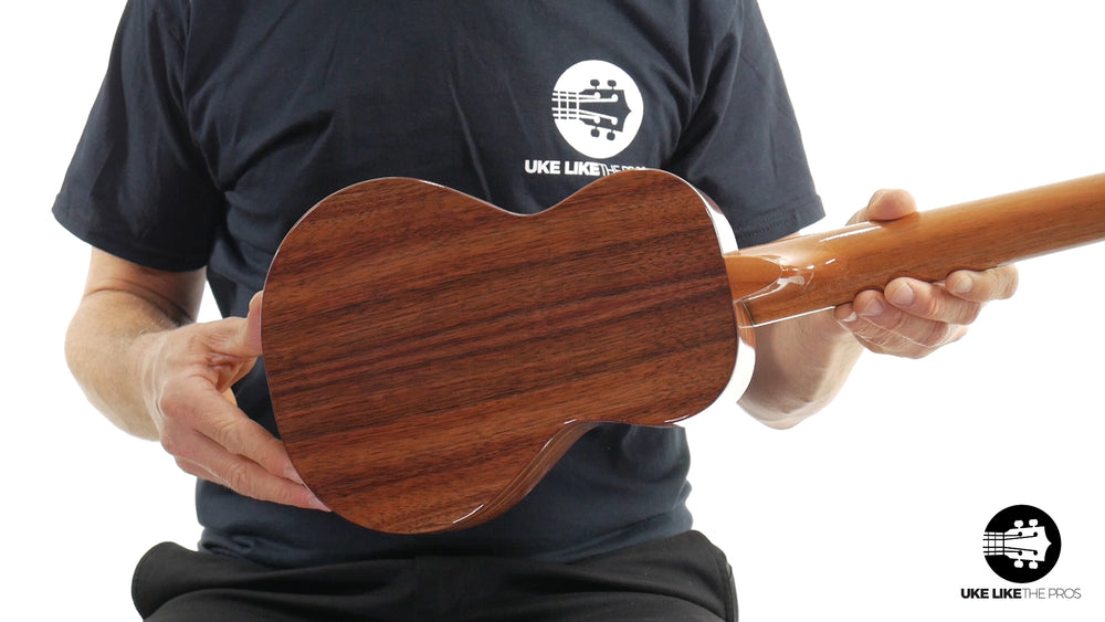 "KoAloha  (KCM-02) Concert Long Neck Solid Koa Ukulele  ""Sunset Beach"""