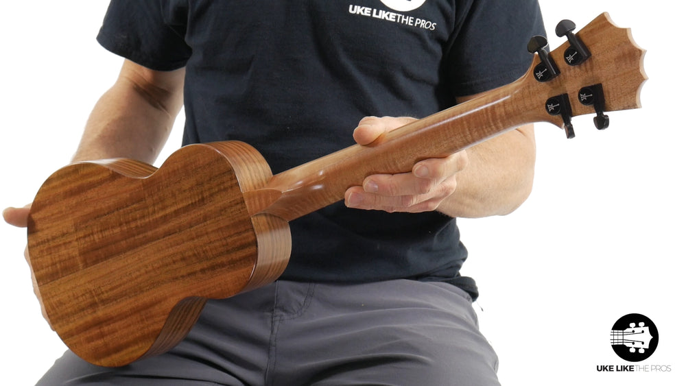"KoAloha Opio Concert Long Neck Ukulele Acacia KCO-02 ""Water Dragon"""