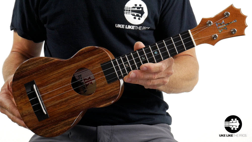 "KoAloha KSM-00 Soprano Ukulele Koa ""Big Bear"" Made in Hawaii"