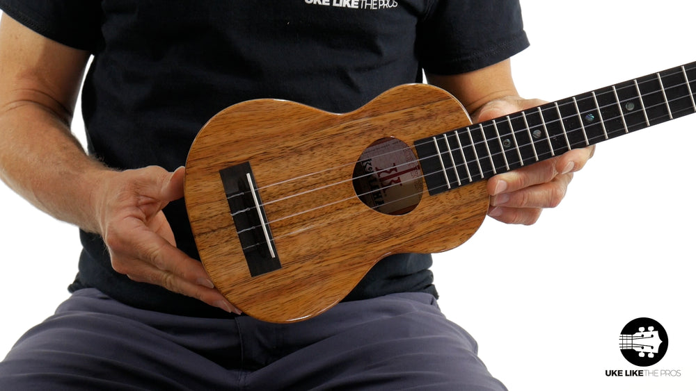 "KoAloha KSM-02 Soprano Longneck Ukulele Koa ""Heartstone"" Made in Hawaii"
