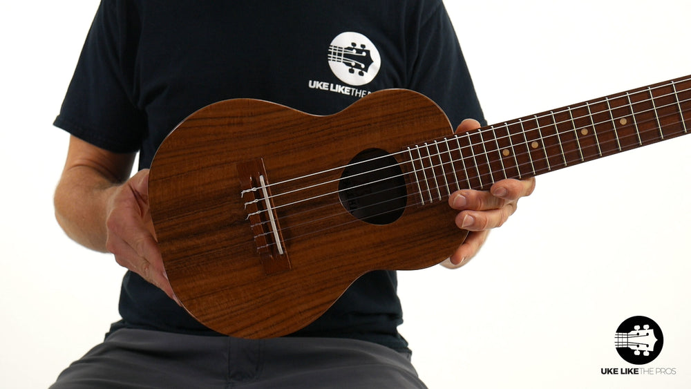 "KoAloha KTO-G6 Guitarlele Opio Solid Acacia 6 String ""Curly"" A to A Tuning"