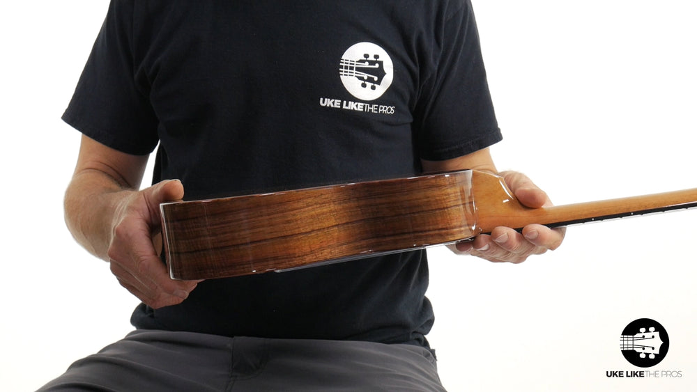 "KoAloha KTM-00 Tenor Ukulele Koa ""Blackout"" Made in Hawaii"