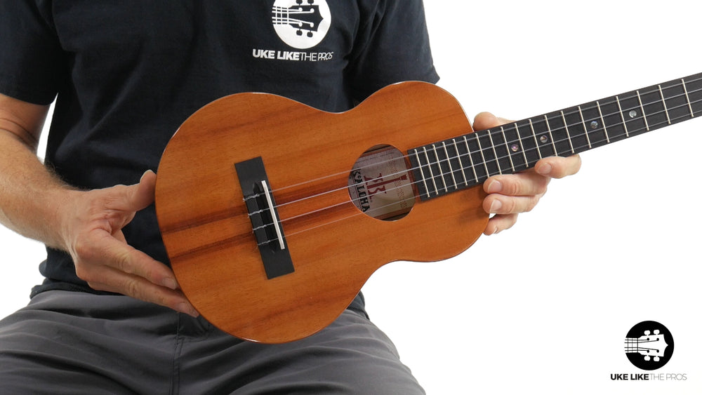 "KoAloha Slimline Tenor Ukulele KTM-S00 Solid Koa ""Arrow"" Made in Hawaii"