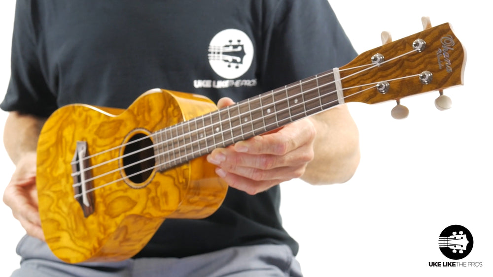 "Ohana CK-15WG Concert Ukulele Unique Gloss Willow ""Face Melt """