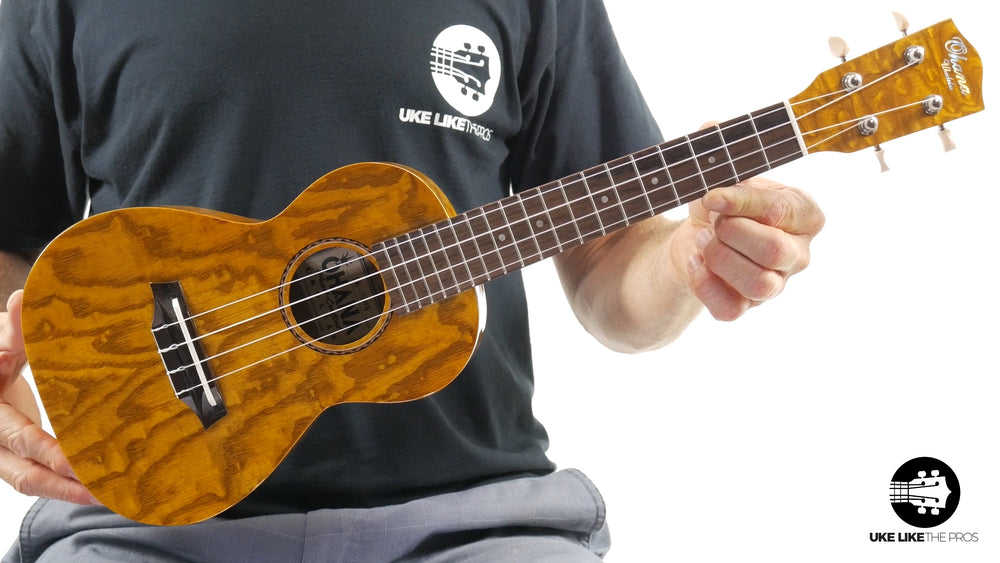 "Ohana CK-15WG Concert Ukulele Unique Gloss Willow ""Time Warp"""