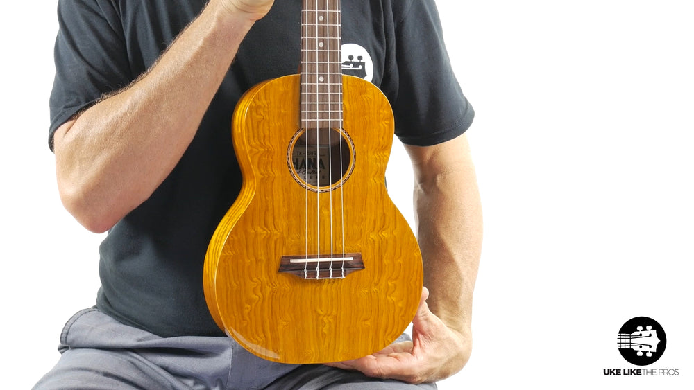 "Ohana TK-15WG Tenor Ukulele Unique Gloss Willow Wood ""Phaser"""