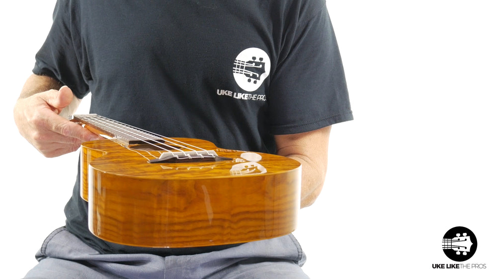 "Ohana TK-15WG Tenor Ukulele Unique Gloss Willow Wood ""Slime"""