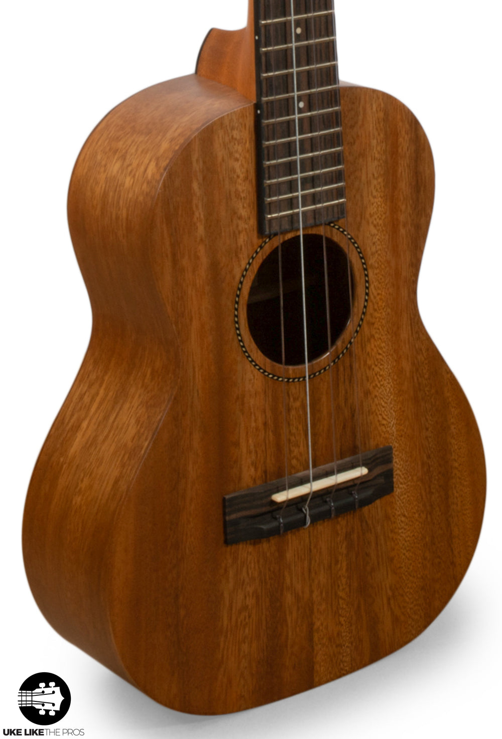 "Pono AT Solid Acacia Tenor Ukulele ""Kalena"" 2 Strap Buttons + Custom Set Up"