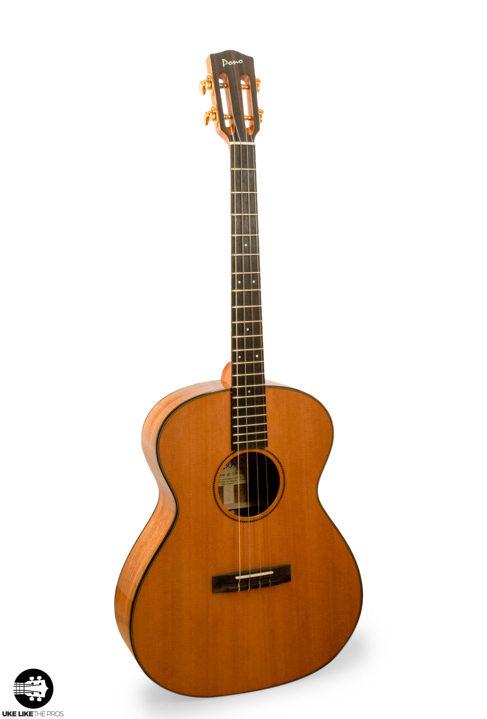 "Pono BN4-1 CLASSIC Big Baritone Ukulele Solid Cedar & Acacia ""Kingston"""