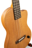 "Pono BE Baritone Thinbody Electric Ukulele Solid Acacia ""Castaway"" with Pickup"