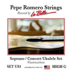 Pepe Romero Strings US1 Soprano/Concert Ukulele High G Set