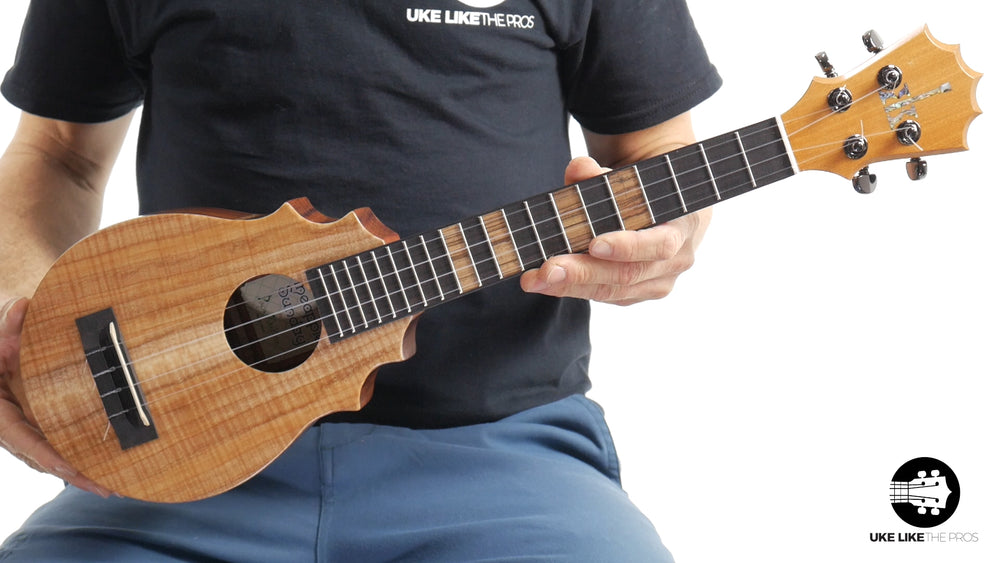 "KoAloha Pineapple Sunday Koa Ukulele ""Blonde Bombshell"" Made by Pops"