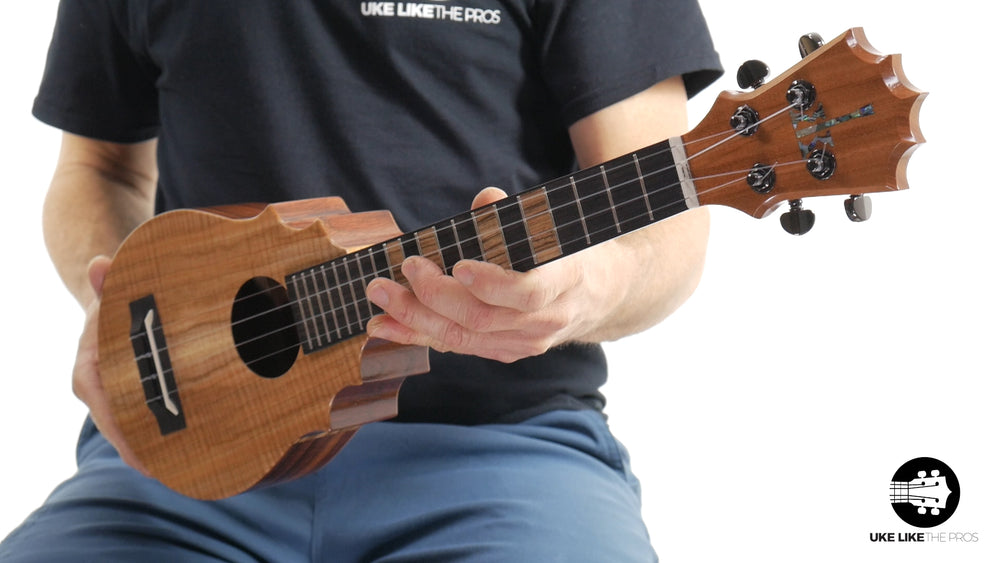 "KoAloha Pineapple Sunday Koa Ukulele ""Sunrise"" Made by Pops"