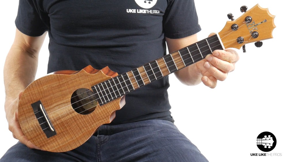 "KoAloha Pineapple Sunday Koa Ukulele ""Shadow Dancer"" Made by Pops"