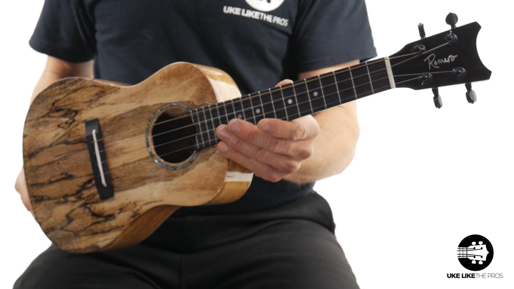 "Romero Creations Concert Spalted Mango Ukulele RC-C-MG ""Fire Starter"""