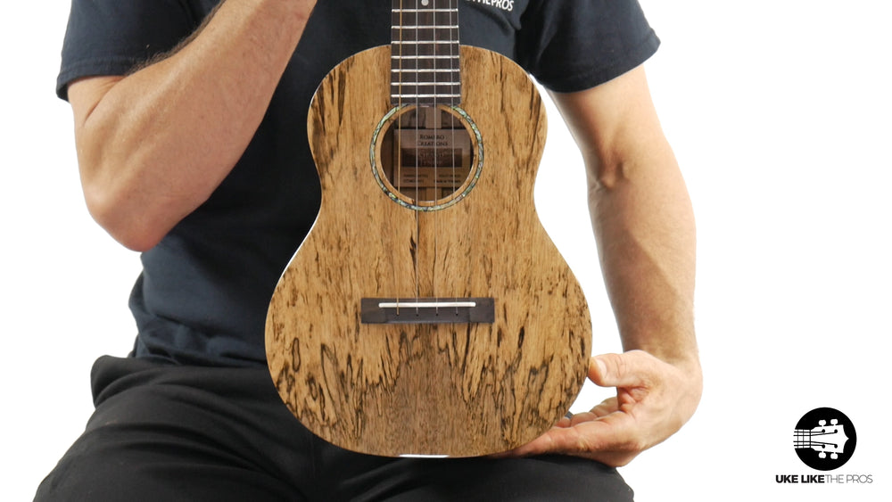 "Romero Creations Grand Tenor Spalted Mango Ukulele RC-GT-MG ""Burning Man"""