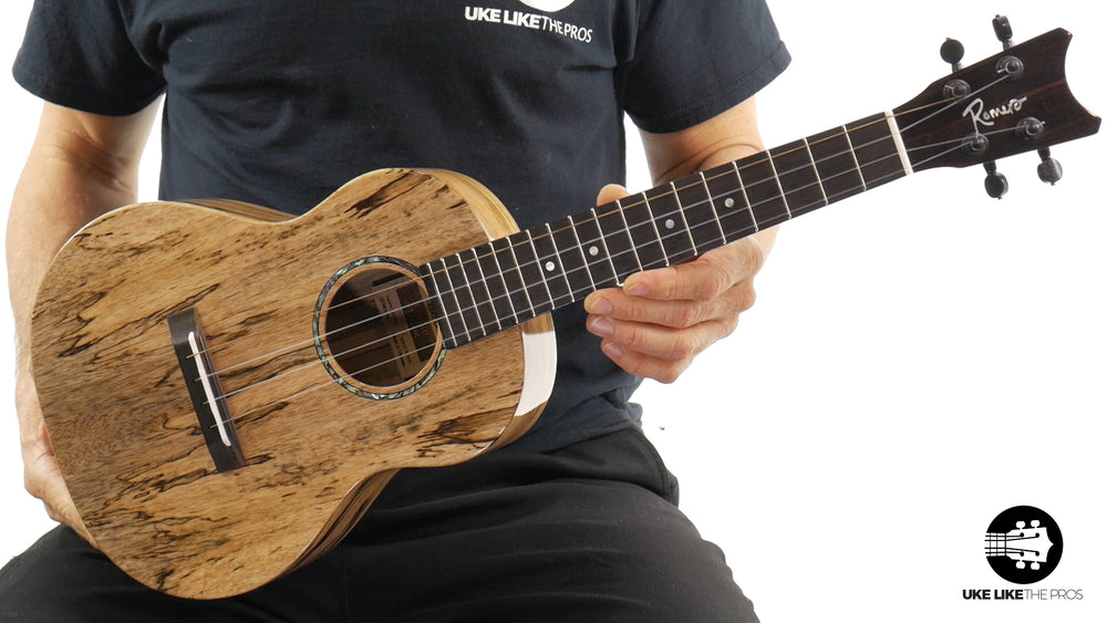 "Romero Creations Grand Tenor Spalted Mango Ukulele RC-GT-MG ""Devil's Finger"" + LR Baggs 5.0"