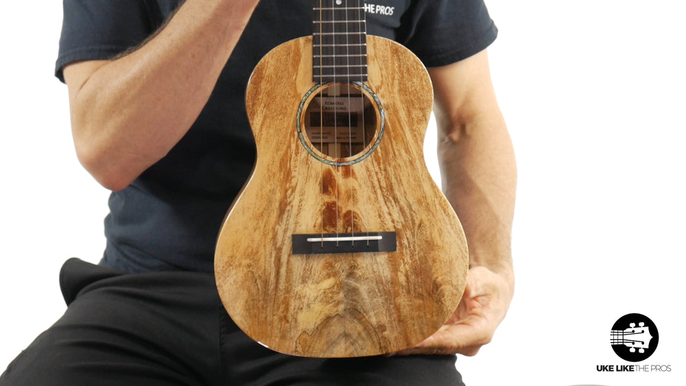 "Romero Creations Grand Tenor Spalted Mango Ukulele RC-GT-MG ""Caramel River"""