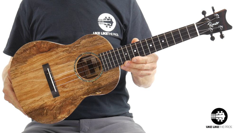 "Romero Creations Grand Tenor Spalted Mango Ukulele RC-GT-MG ""Fire Ball"""