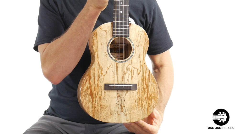 "Romero Creations Grand Tenor Spalted Mango Ukulele RC-GT-MG ""Red Dawn"""
