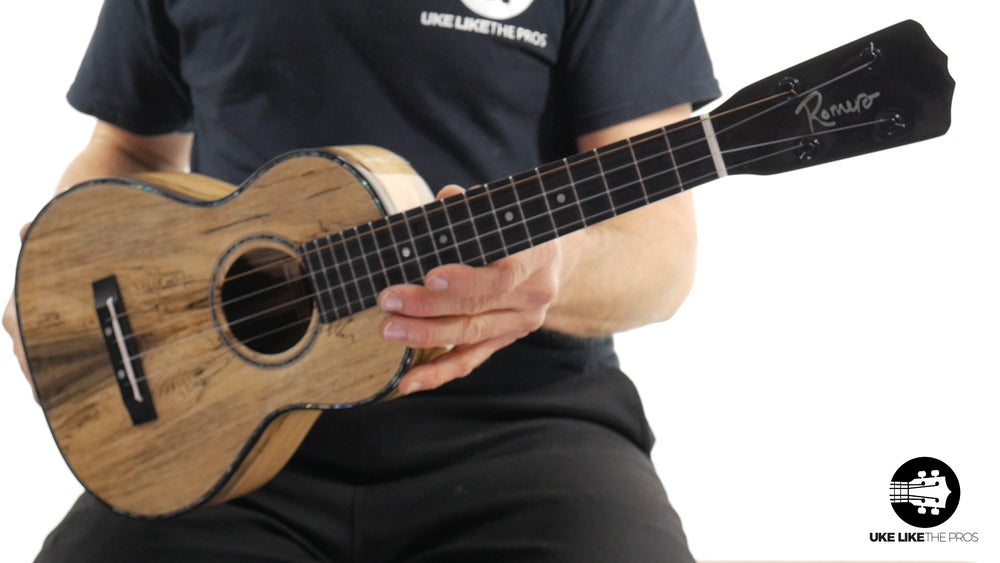 "Romero Creations Replica Tenor Ukulele Spalted Mango (RC-REP-MANGO) ""Spalted Spike"""