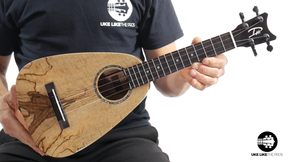 "Romero Creations ST Concert Ukulele Spalted Mango RC-ST-MG ""Lemon Meringue"""