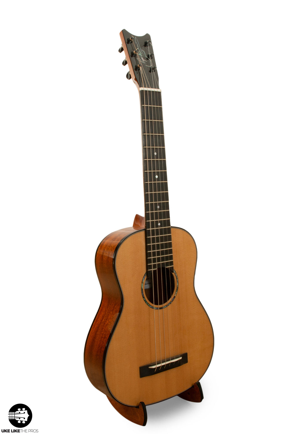 "Romero Creations 6 String Baritone Guitar/Guitarlele Nylon String RC-B6-SM ""Barramundi"" E to E Tuning"