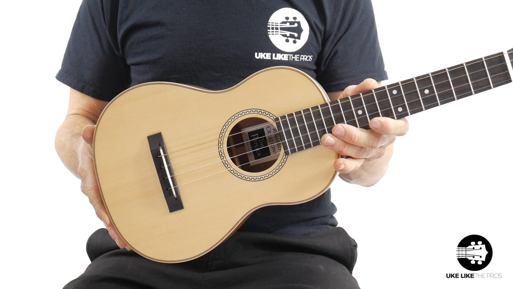 "Romero Creations Replica Tenor Ukulele Solid Spruce Top/Solid Acacia Sides & Back (RC-RS-SA) ""Riders On The Storm"" B Stock"